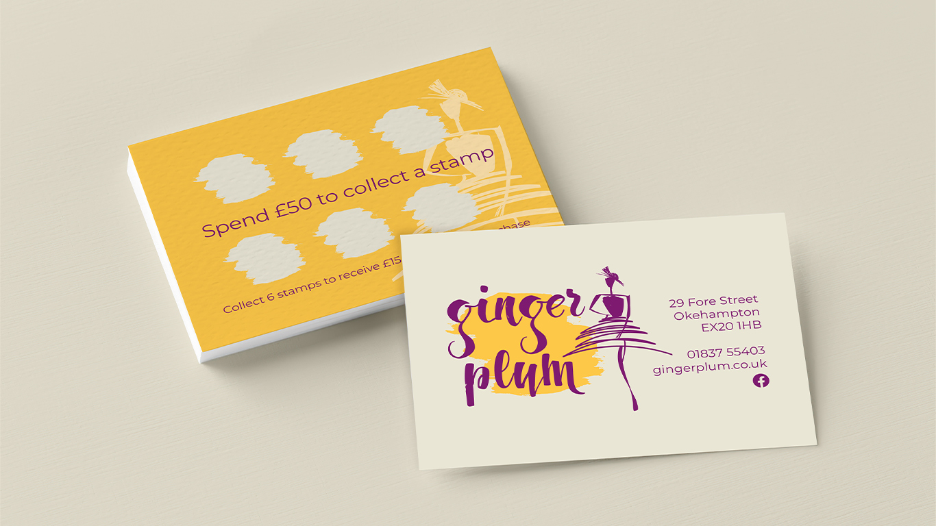 Image of ginger plum loyalty card