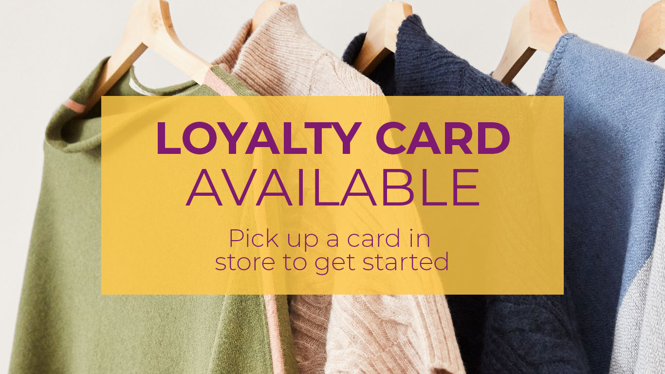 Loyalty card available. Pick up a card in store to get started