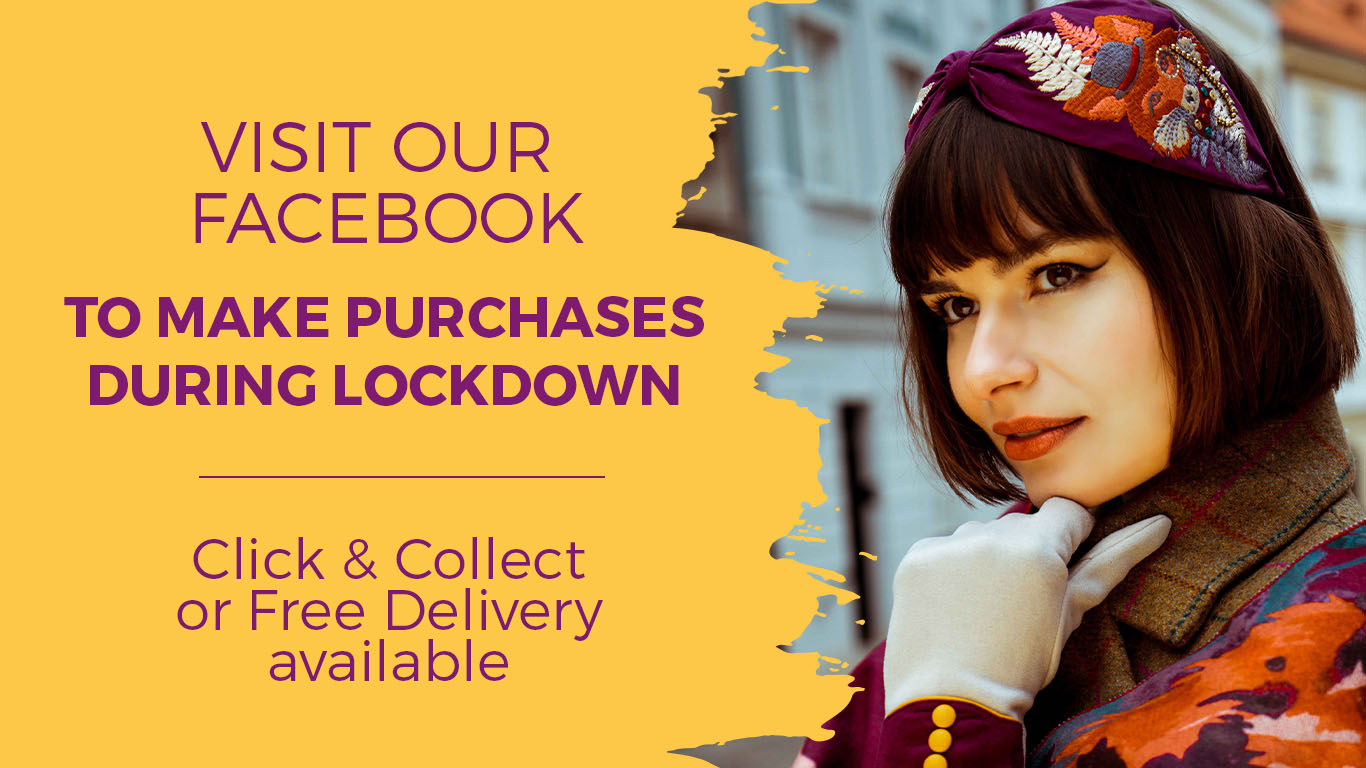 Visit our facebook to make purchases during lockdown. Click and collect or free delivery available